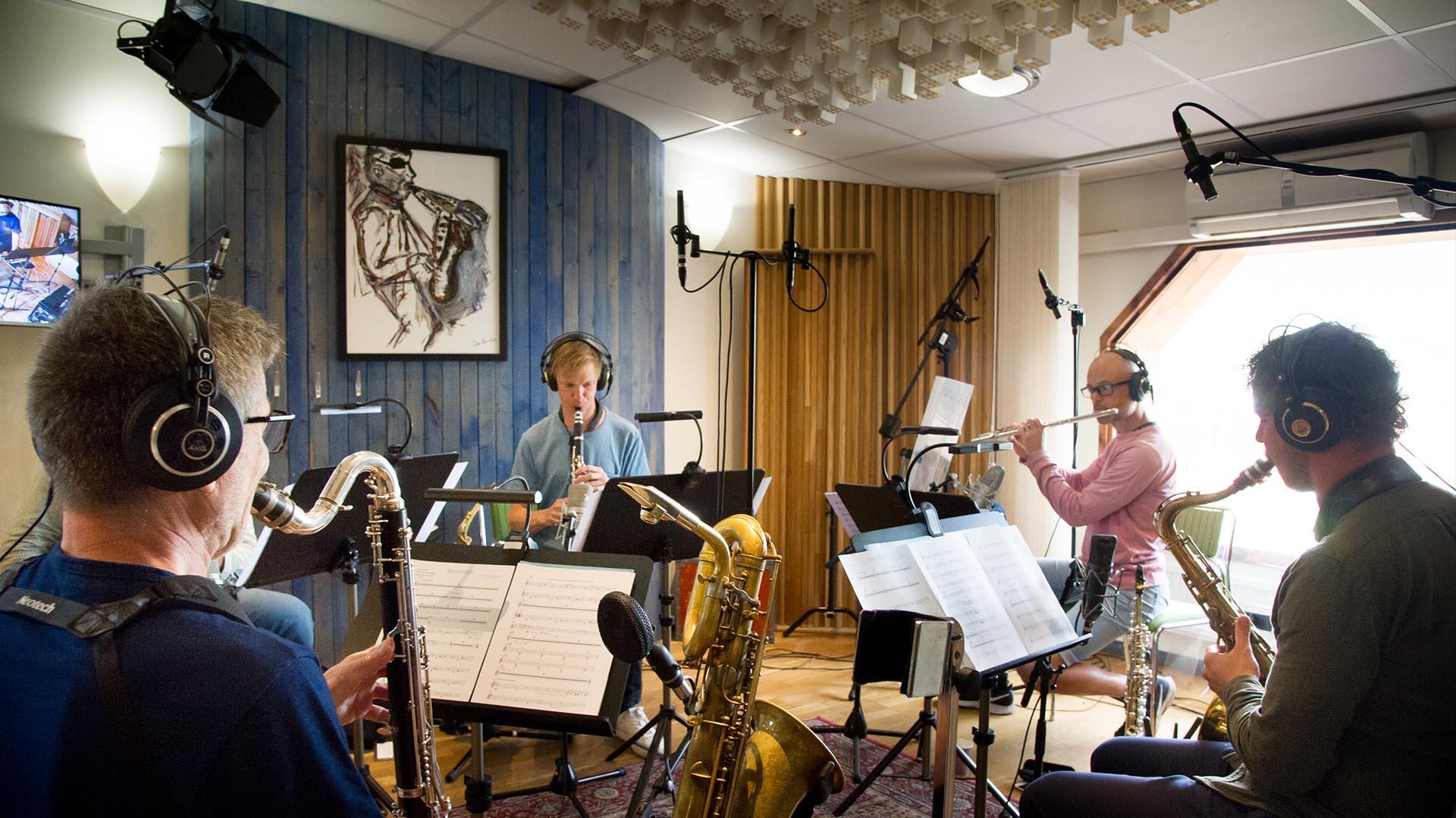I skivstudion med Bohuslän Big Band